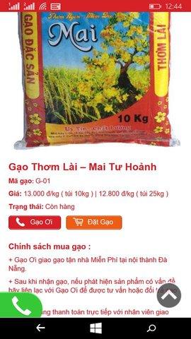 Gạo Ơi 2 - Gạo Sạch Đóng Túi - Giao Gạo Tận Nhà Miễn Phí Tại Đà Nẵng